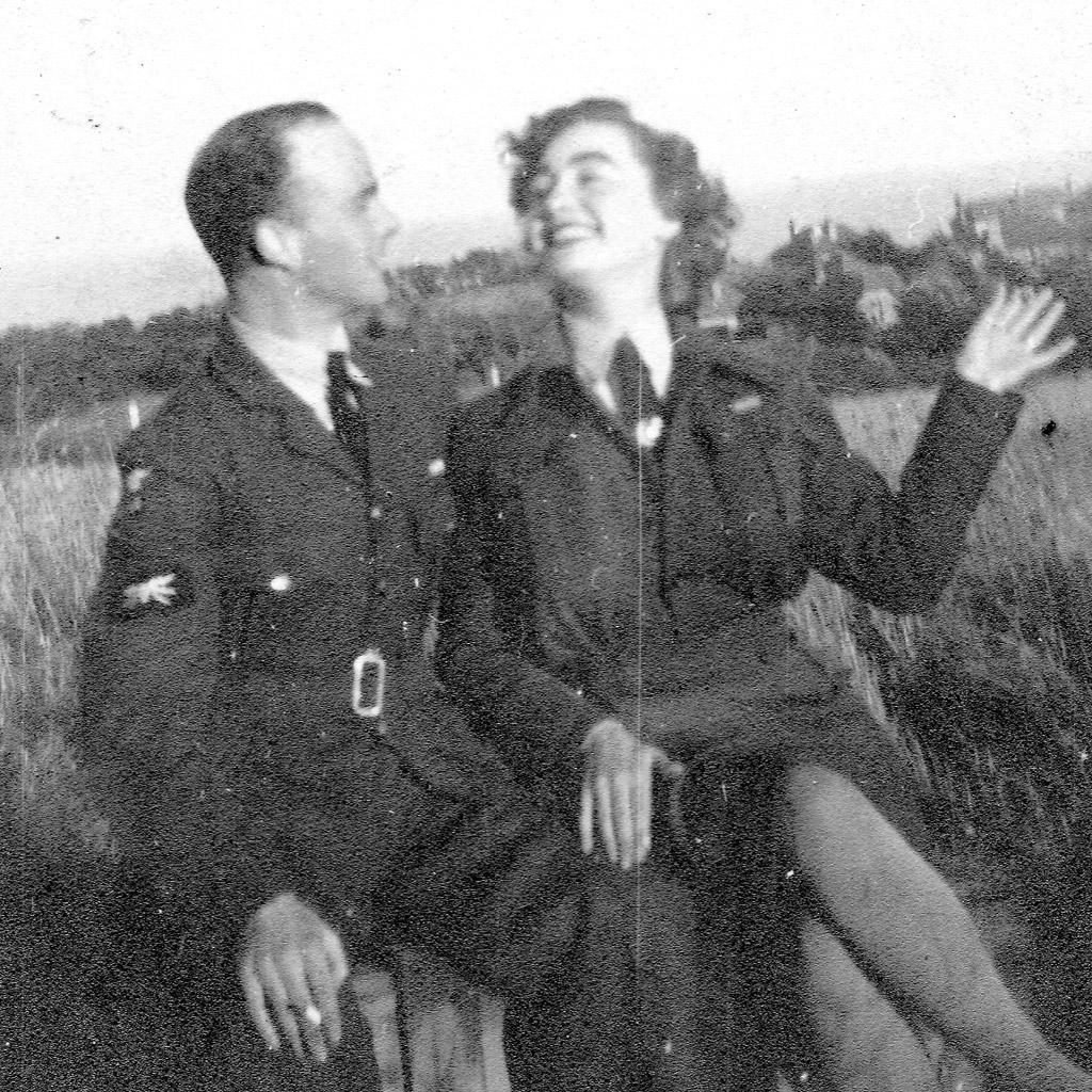 1940s Daphne Harrell in uniform