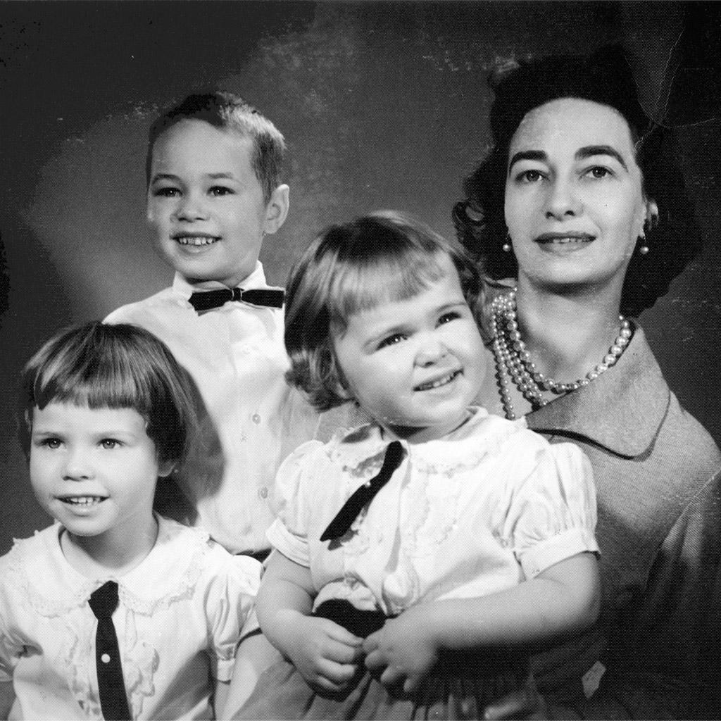 1958 Daphne with Shaun Niki and Karen