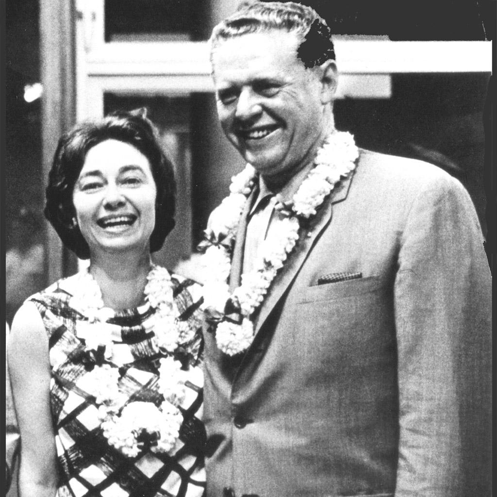 1966 Daphne & Wilson Harrell in Hawaii
