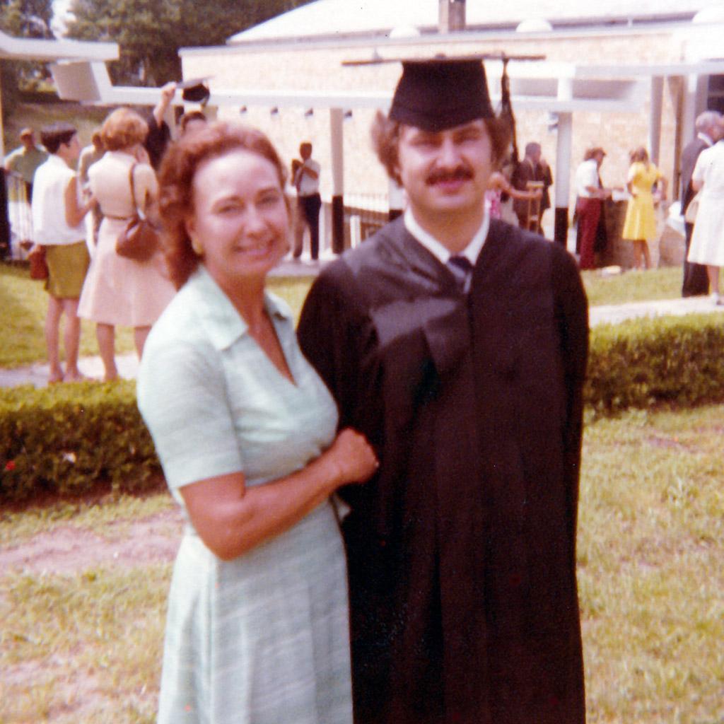 1977 Daphne and Shaun Jacksonville University Graduation