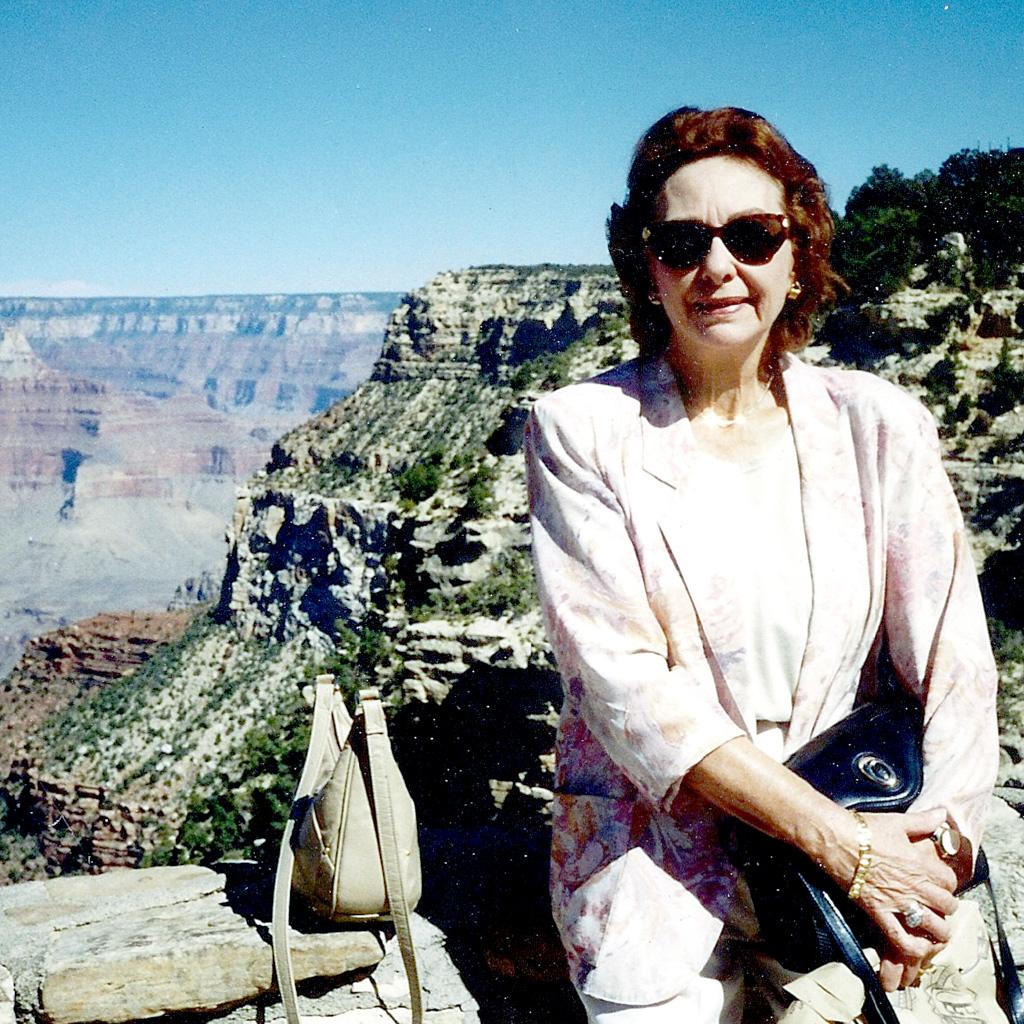 1990s Daphne at the Grand Canyon