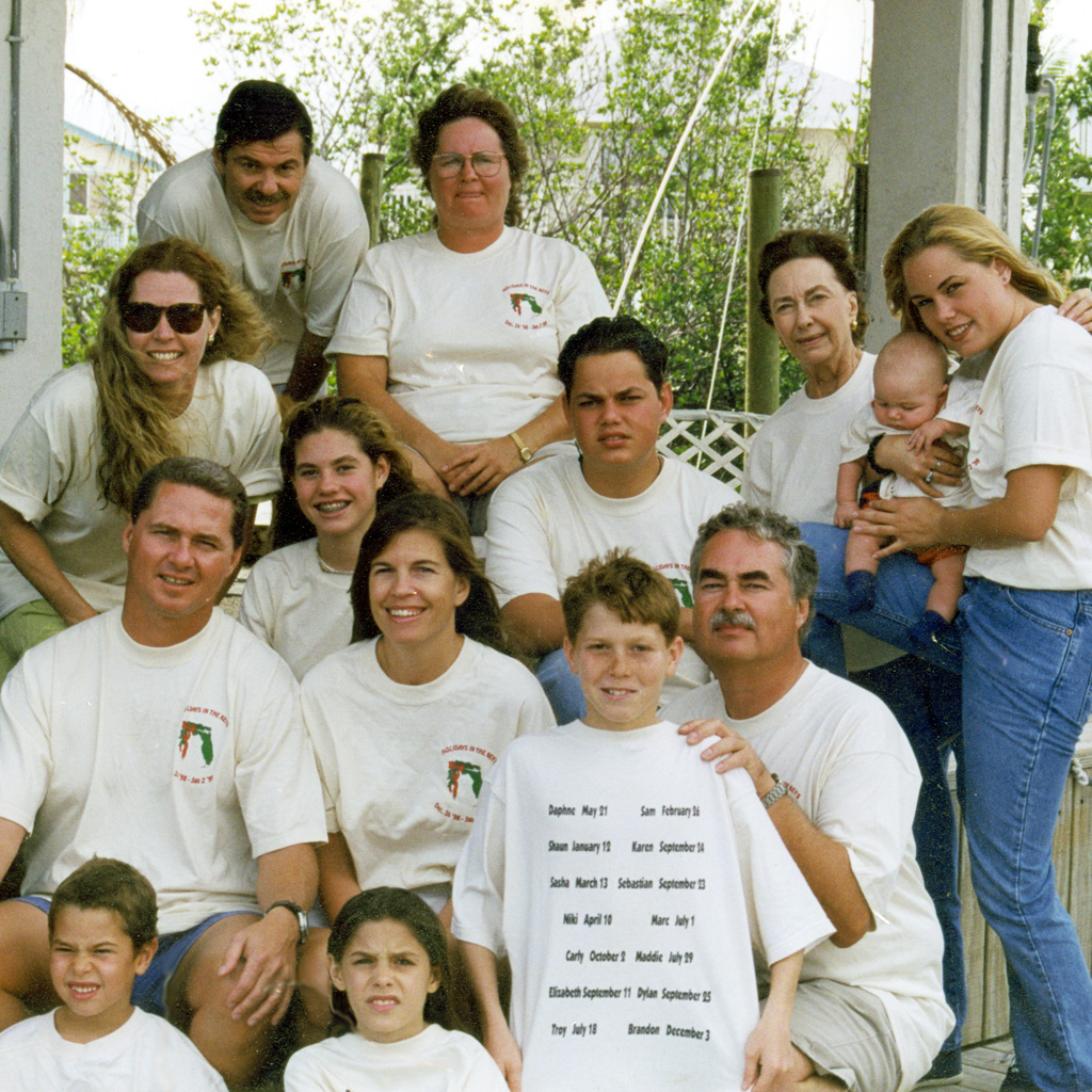 1998 Whole family in the keys