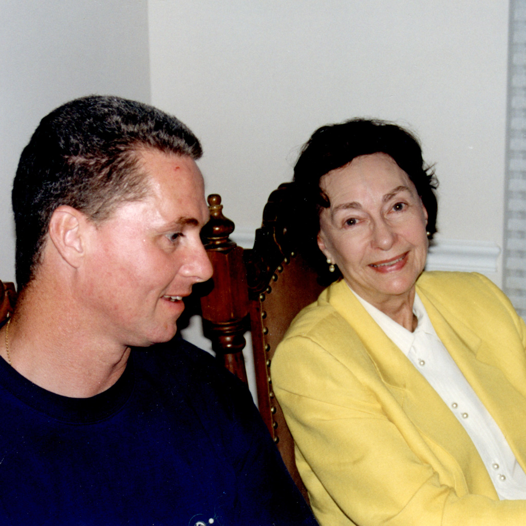 1999 Daphne and Mark at dinner in Fernandina