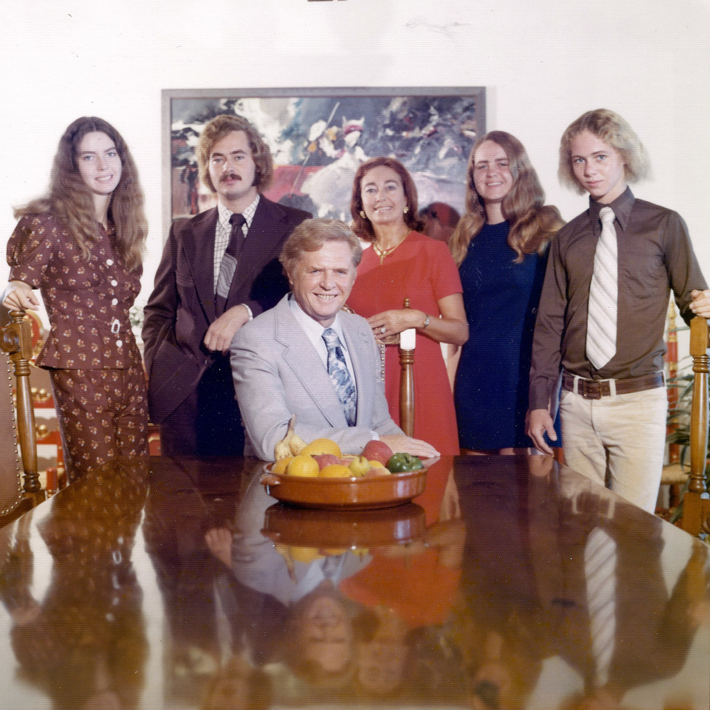 Mid-1970s Daphne's family in Jacksonville dining room