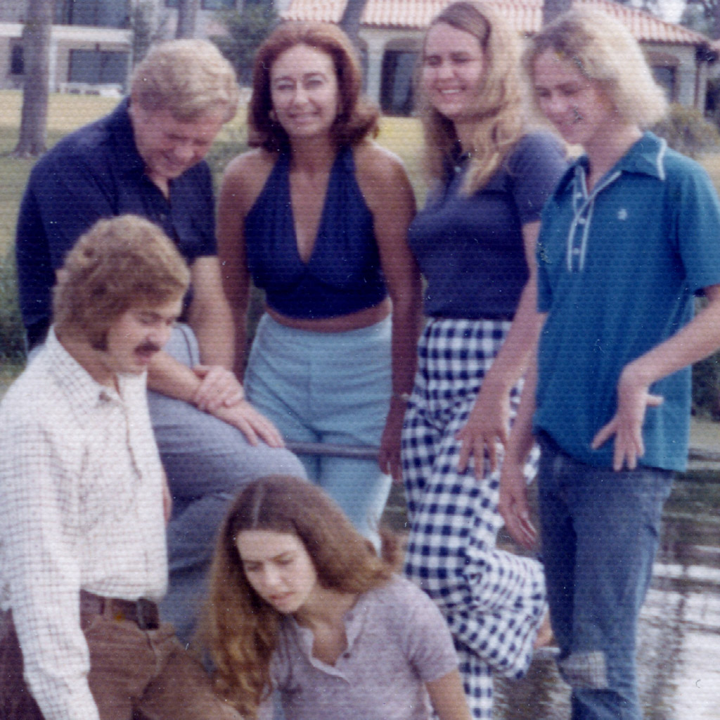 Mid-1970s Family on Dock Close-up