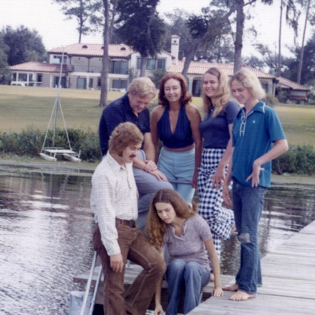 Mid-1970s Family on Dock at 9980 Scott Mill